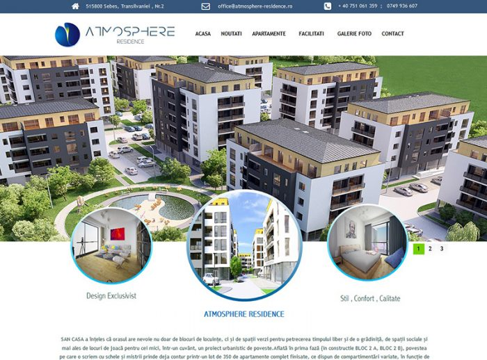 Landing Page Atmosphere Residence