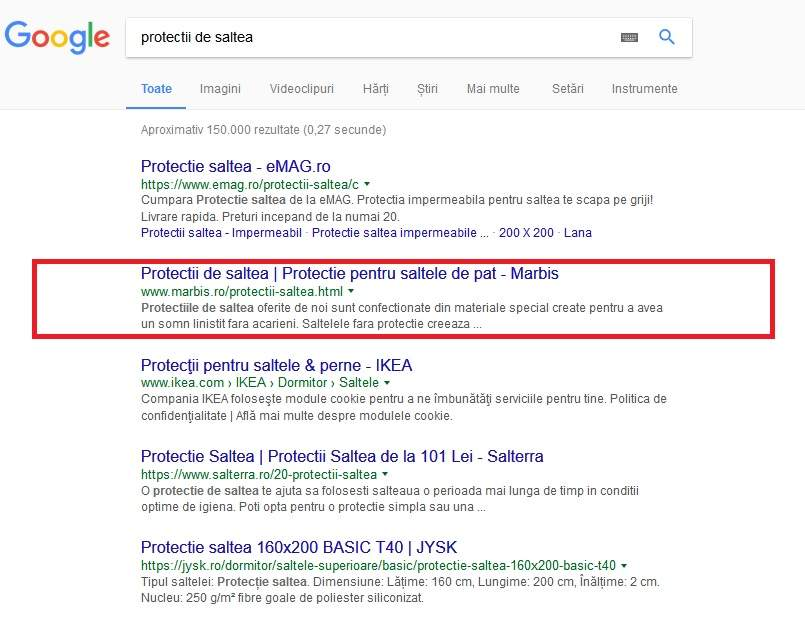 optimizare seo-marbis.ro